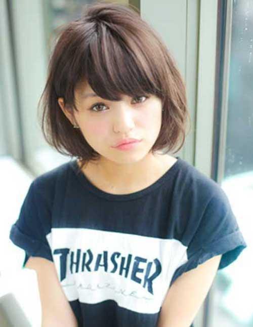 Cute asian shorts long hair