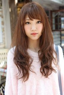 Cute skinny long hair asian