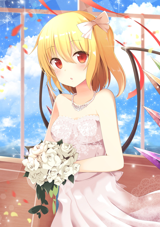 anime eyes girl green hair Blonde