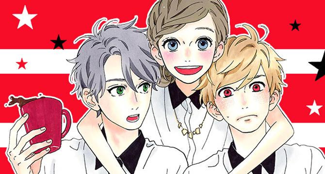 2 Love triangle guys anime