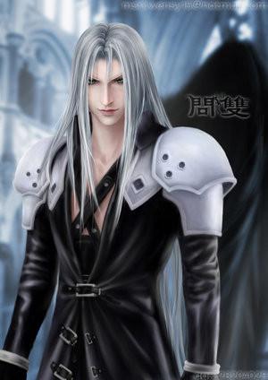guy anime Silver hair