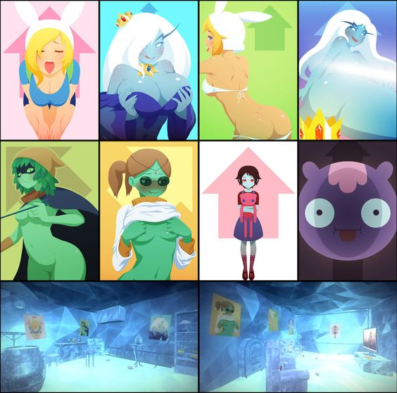 What if adventure time was a 3d anime game posters