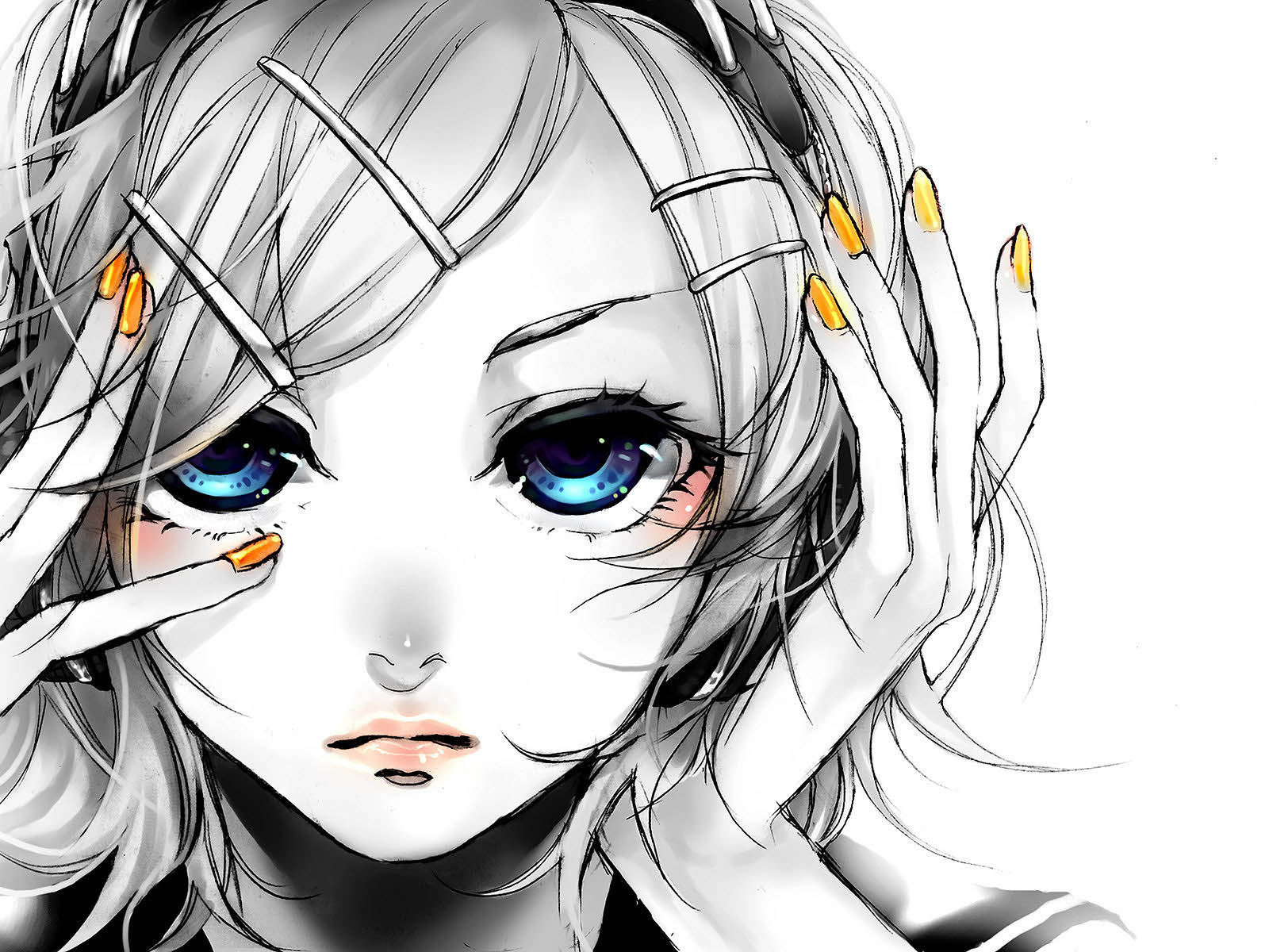 girl profile Anime face