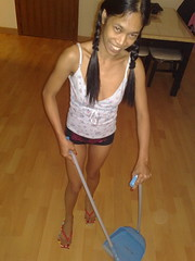 skinny asian talk Maid dirty