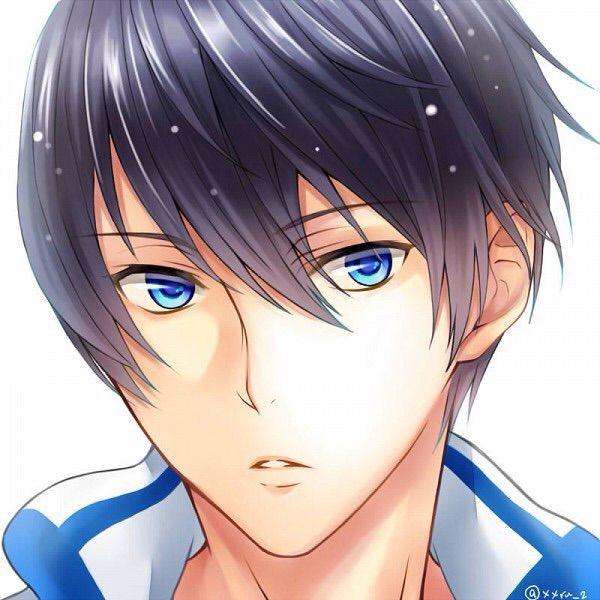 guy eyes Anime blue