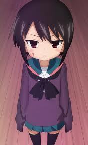Flat chest anime girl