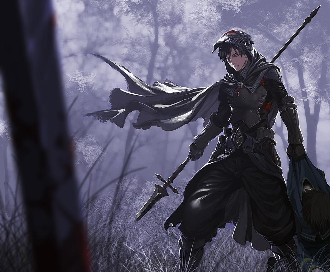 man anime Black hair