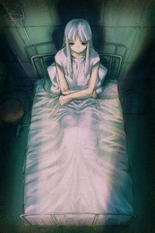 girl in bed Anime
