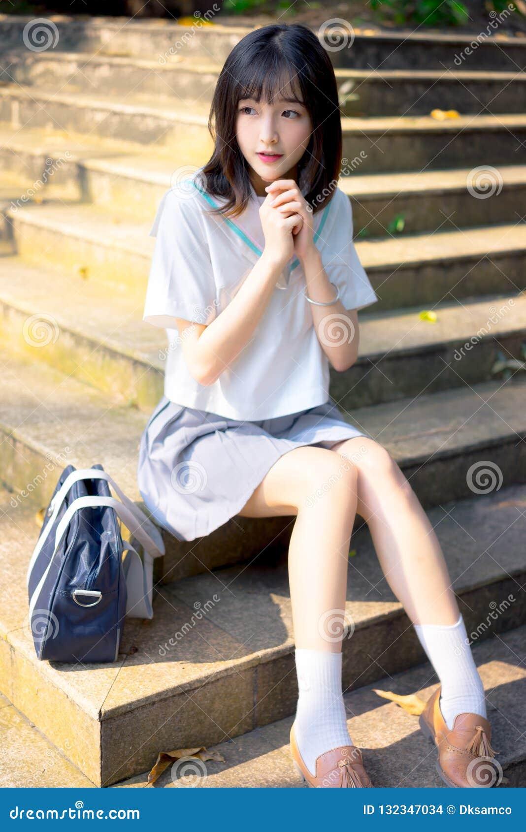 cheating outdoor uniform Asian