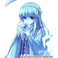anime Blue girl skinned