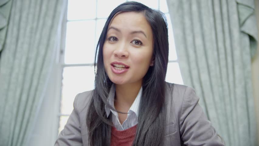 POV classic Asian woman