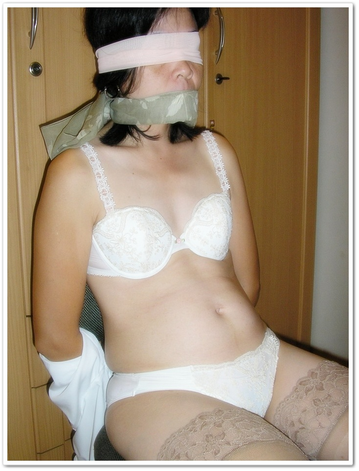 otngagged housewife Asian blonde
