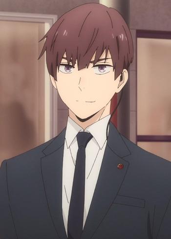 male anime hair Brown brown eyes