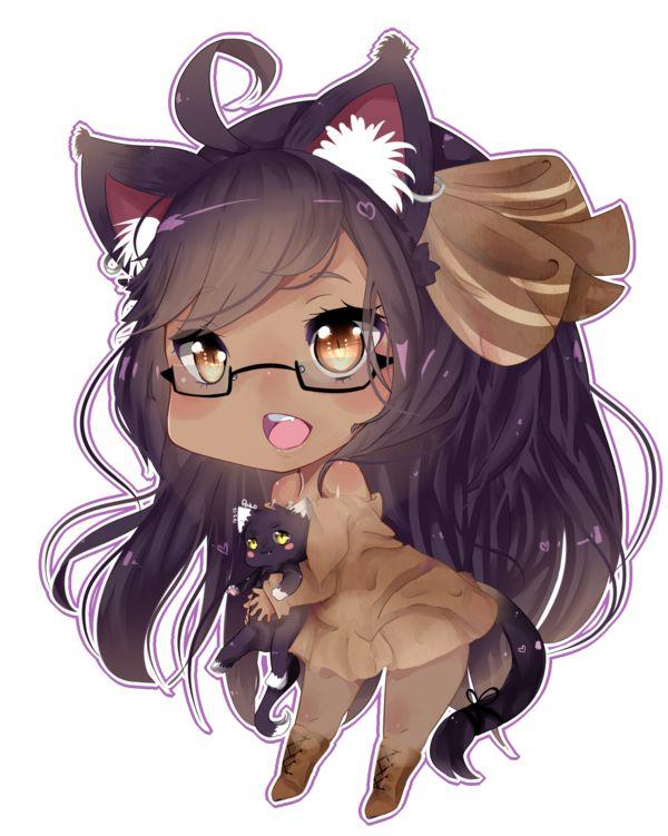 skin Anime girl brown