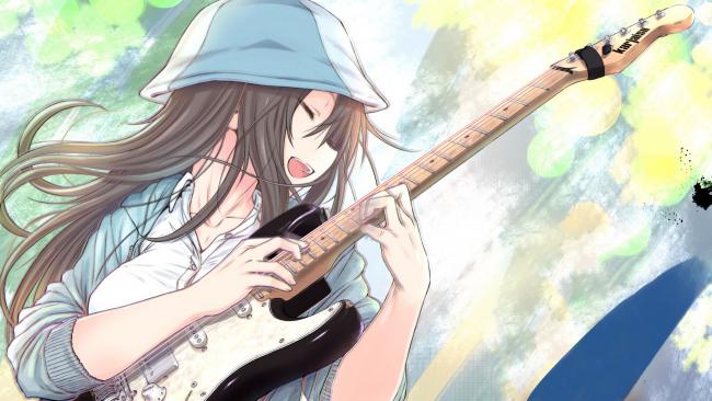 girl with Anime herself playing