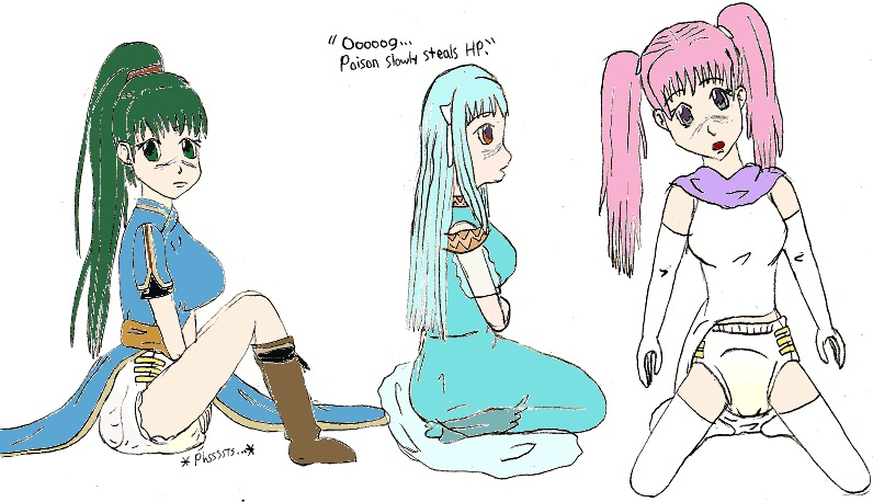 diaper in peeing girls Anime