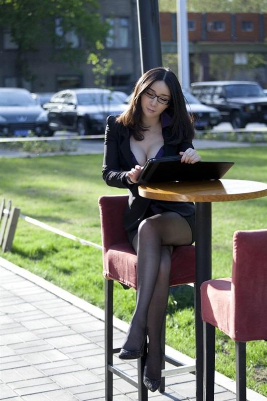 secretary Asian midget cute