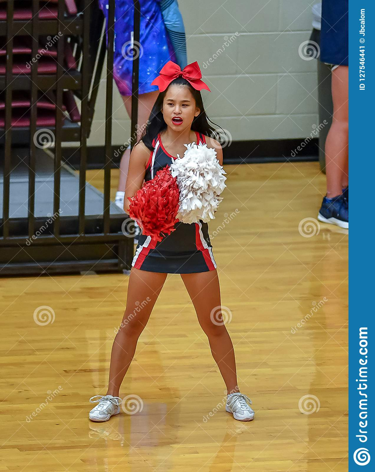 young otngagged Asian cheerleaders