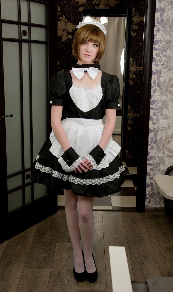 crossdresser Asian panties uniform