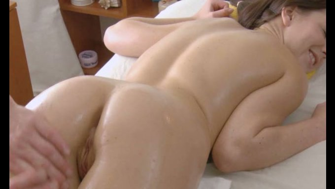 Chinese nude girl butt massage