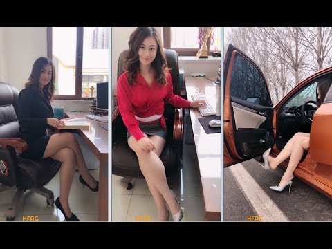 office in Chinese lady pantyhose the