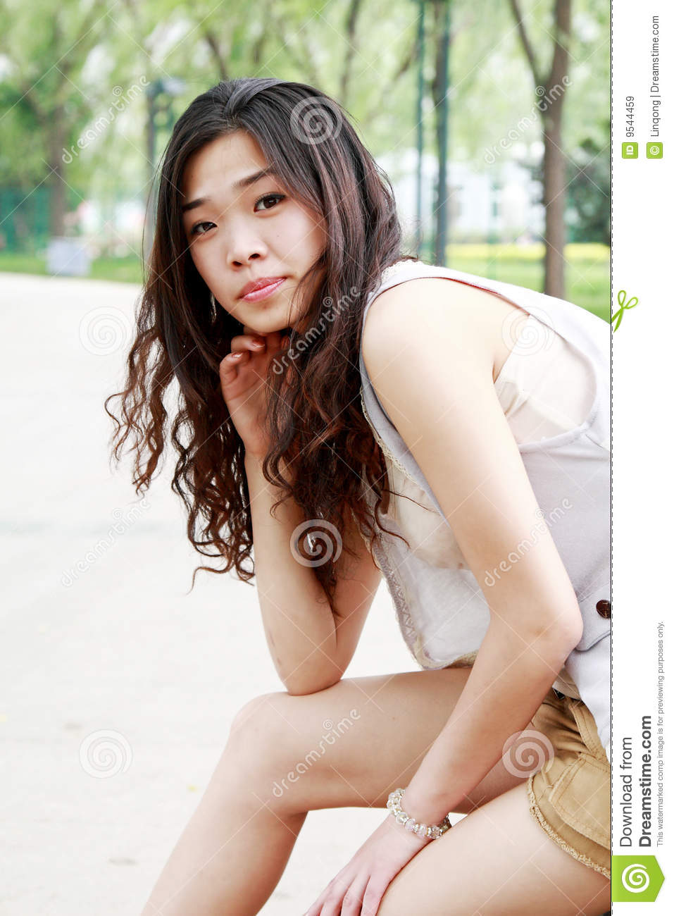 outdoor asian woman Classic