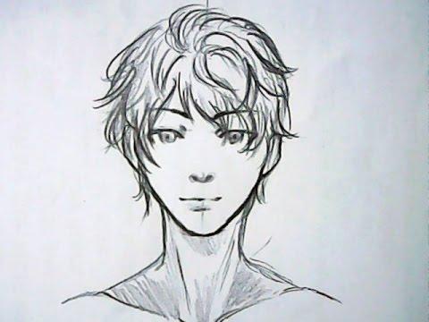 boy anime Curly hair
