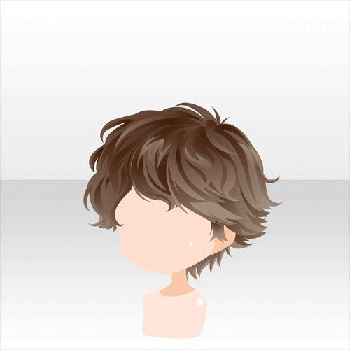 Curly hair anime boy