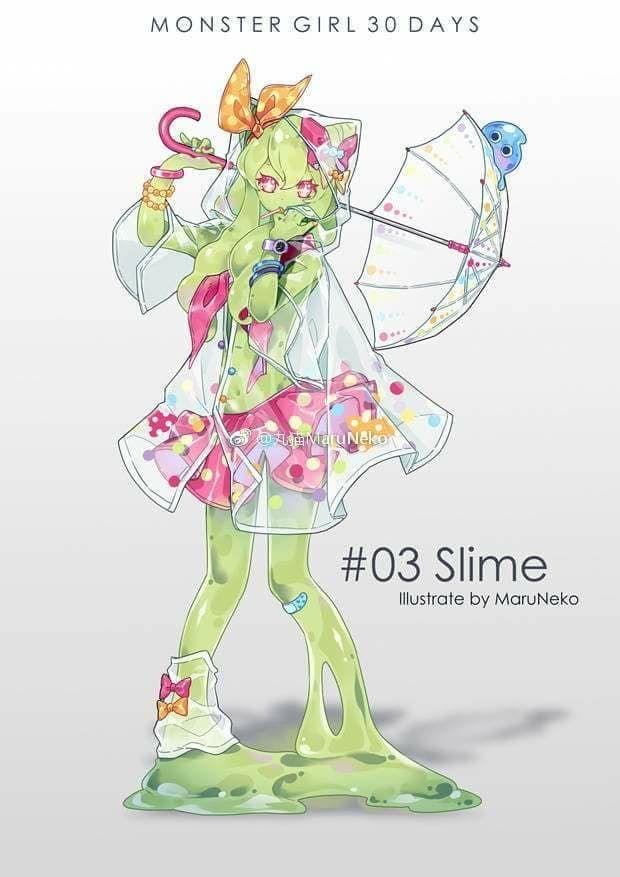 Cute anime monster girl