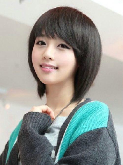 long Cute asian hair shorts