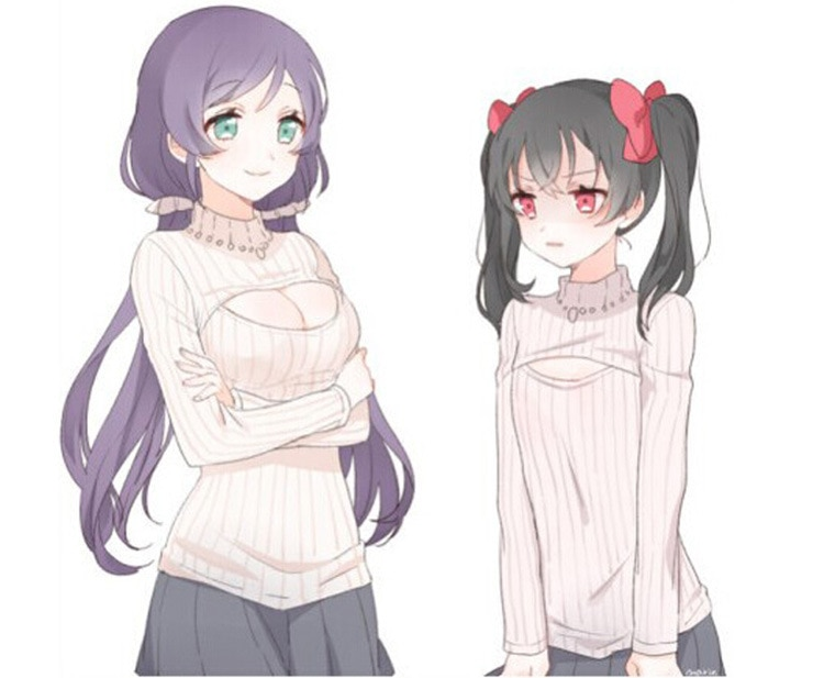 sweater Open anime chest
